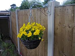Hanging Basket Brackets For Concrete Fence Posts 4 Amazon Co Uk Garden Outdoors