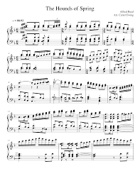 Alfred Reed- The Hounds of Spring Piano Arr. (WIP) Sheet music for Piano  (Solo) | Musescore.com