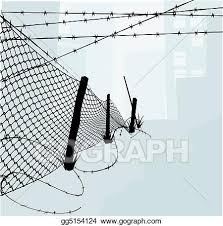 Vector Stock Chain Link Fence And Barbed Wire Vector Illustration Clipart Illustration Gg5154124 Gograph