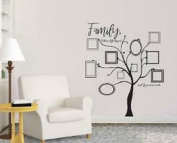 Family Tree Picture Frame Decal Wall Sticker Bedroom Home Decor Art Photos St301 Ebay