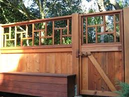 Redwood Asian Influence Design Fence And Gate Yelp Wooden Garden Gate Fence Design Garden Gate Design
