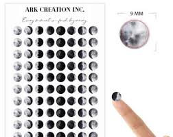 Moon Phase Stickers Etsy