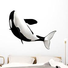 Killer Whale Jump Porthole Sea Window Wall Decal Vinyl Sticker Ocean Port Scape