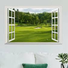3d Fake Window Scenery Wall Sticker Green Landscape Decal Vinyl Art Mural Decor Ebay