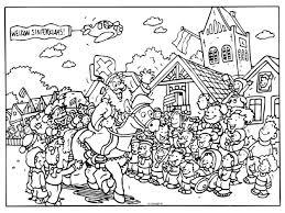 Kleurplaat Sinterklaas Kleurplaten Sinterklaas Thema