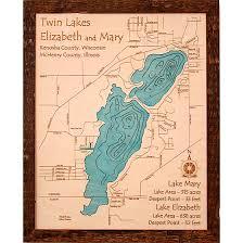 3d lake maps lake house gifts