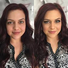 green eyes before and after hair makeup