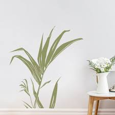 Palm Leaf Stem Wall Decal Sticker