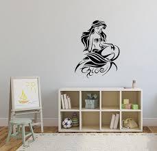 Beautiful Princess Aria Large Wall Sticker Vinyl Bed Room Art Girl Baby