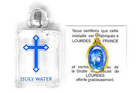 blessed bottle of holy water lourdes