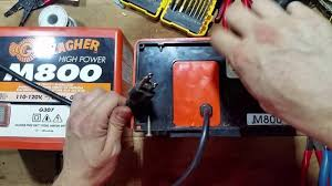 Testing A Gallagher Electric Fence Charger Youtube