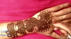 mehndi design 2019 back hand bridal