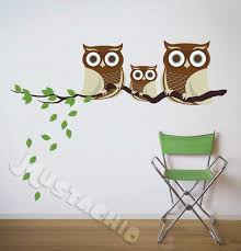 Fabric Wall Decals Family Of Owls Fabric Wall Decals Family Wall Decals Owl Wall Decals