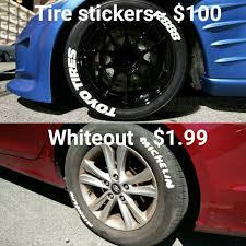Diy Tire Stickers Brought To You By Staples Shitty Car Mods