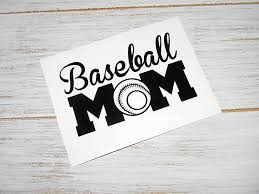 Amazon Com Baseball Mom Vinyl Decal Sticker Pick Color Perfect For Water Bottle Yeti Cups Tumblers Laptop Etc Handmade