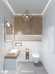 niches in drywall structure of toilet
