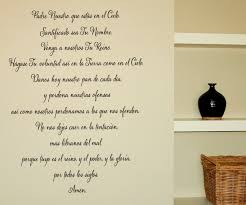 Spanish Version Of The Lord S Prayer Wall Decal Trading Phrases