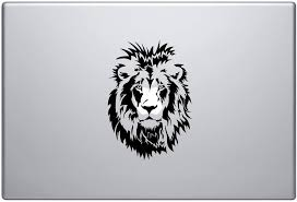 Amazon Com Lion Wild King 4 Pieces Laptop Skin Vinyl Decal Sticker For Macbook Pro 13 And Other Apple Laptop Car And Windows Size 6 X 6 Inches Kitchen Dining