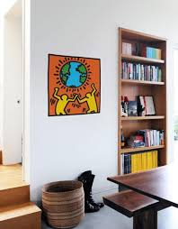 Keith Haring Earth With Figures Wall Decal Keith Haring Pop Shop
