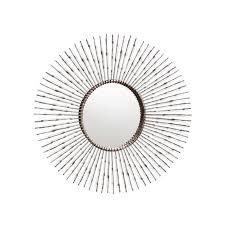 radial metal round mirror colton