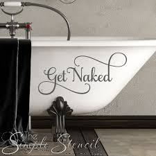 Get Naked Wall Tub Or Shower Door Decal To Decorate A Bathroom Or Powder Room