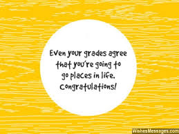 congratulations for ping exams and
