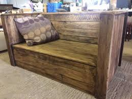 recraft upcycled rustic garden bench