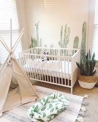 I Love This Beautiful Neutral Cactus Themed Nursery This Could Be Adapted For An Older Kids Room The Cactus De Baby Bedroom Kid Room Decor Baby Boy Nurseries