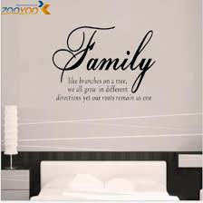 family like branches home decor creative quote wall decals