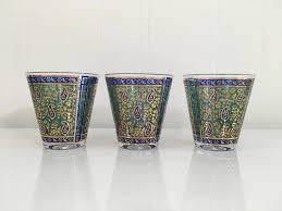 vintage georges briard glassware set of