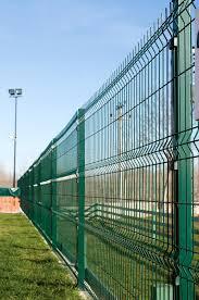 Pvc Coated Fence Stock Image Image Of Galvanized Iron 42171023