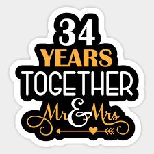 shirt for 34th wedding anniversary