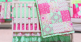 mint green nursery crib bedding sets