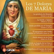 Infografía: Los 7 dolores de la Virgen María | Catholic-Link