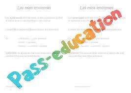 synonymes leçon ce2 pass education