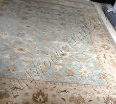 pottery barn malika rug blue 3x5 wool