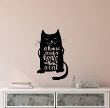 Vinyl Wall Decal Funny Quote Pets Cats Animal House Is Not A Home With Wallstickers4you