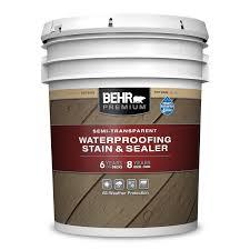 Semi Transparent Waterproofing Wood Stain Sealer Behr Premium Behr Pro
