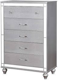 benzara wooden chest with mirror accent