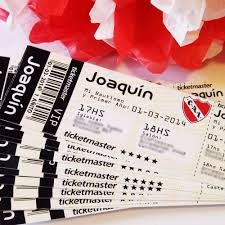 Invitaciones Ticket Avion Entrada Recital Futbol Cumpleanos