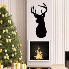 Removable Deer Head Wall Decals Animals Deer Silhouette Wall Sticker For Living Room Bedroom Home Decoration Wall Decals Home Wall Decals Home Decor From Onlybrand 7 15 Dhgate Com