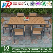 china plastic wood dining table chair