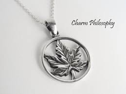 maple leaf necklace 925 sterling silver