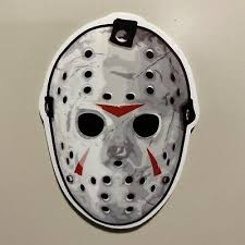 Jason Voorhees Mask Decal Friday 13th Halloween Sticker Window Horror 5 99 Picclick