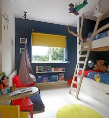 Navy Blue And Yellow Kids Room Interiors By Color
