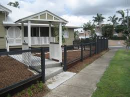 Chain Link Fence With Wood Posts With Gable Entry Chain Link Fence Backyard Oasis Backyard Fences
