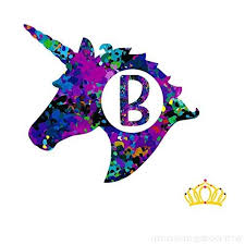 Letter B Monogram Unicorn Decal For Yeti Cup Tumbler Laptop Or Car 3 Inch Height B079lzsmzx