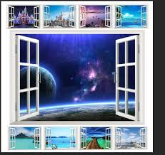 10 Styles For You Choose Ebay Hot Selling 3d Window Decal Wall Sticker Home Decor Exotic Beach View Art Wallpaper Mural Stickers Home Decor Wall Stickerwall Stickers Home Decor Aliexpress