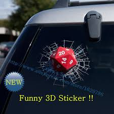 Vinyl Dnd 3d Dice Solid Car Sticker Car Styling Accessories Transparent Glass Sticker Used On Car Window Front Rear Windshield Stickers Fast Sticker Gunsticker Material Aliexpress