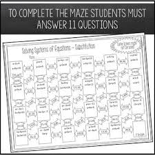 substitution maze worksheet